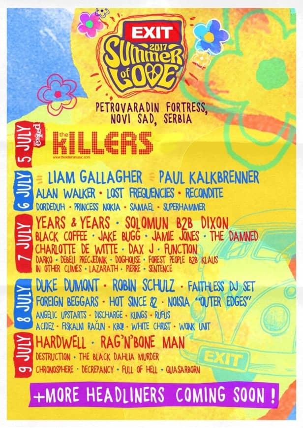 Exit Festival Headliners